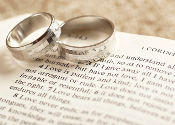 Wedding rings at St. John with St. Mary, Devizes
