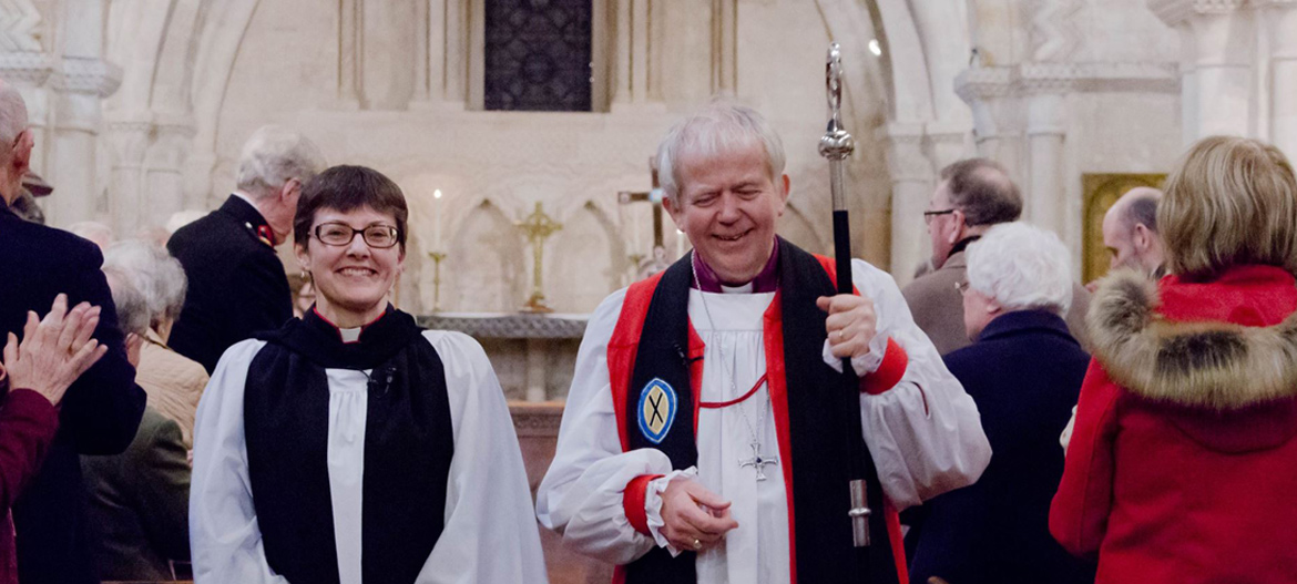 Collation of Sue Groom as Archdeacon of Wilts